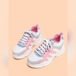 Colorblock Lace Up Sneakers